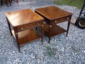 Pair Heritage Mid Century End Tables