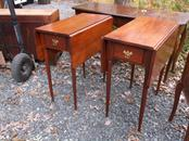 Pair Solid Cherry Drop Leaf Tables