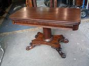 Large Paw Foot Flip Top Game Table