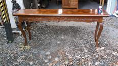 6 Foot Long French Provincial Console Table