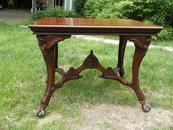 Horner Library Table with Winged Maidens